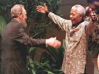 Castro und Mandela