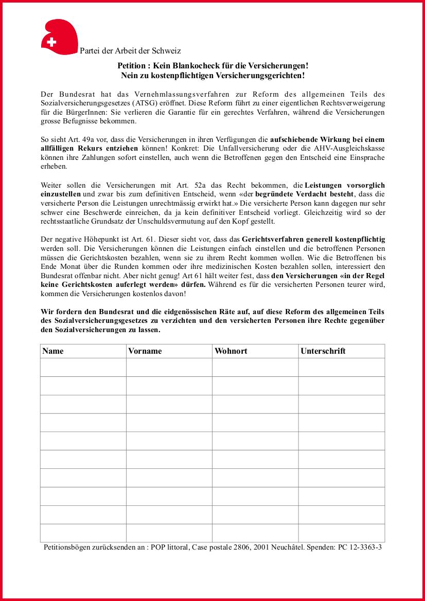 Petition: Kein Blankocheck für die Versicherungen! Nein zu kostenpflichtigen Versicherungsgerichten!